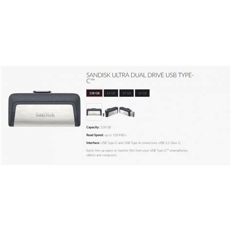 Sandisk Ultra 32gb Type C Usb 3 1 sandisk ultra dual drive usb 3 1 150mbs type c otg 16gb