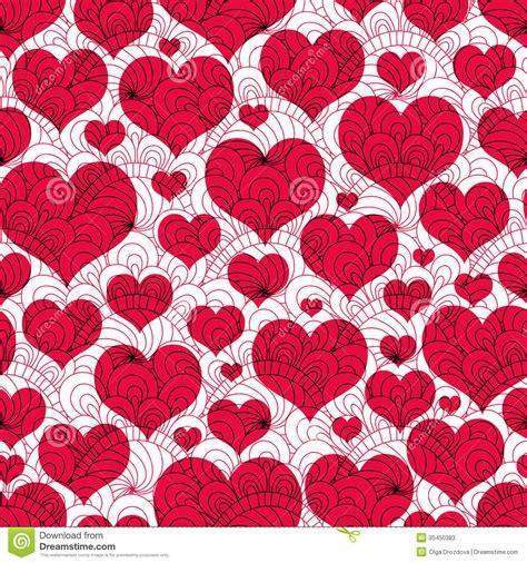 valentine pattern vector vintage seamless valentine pattern stock vector