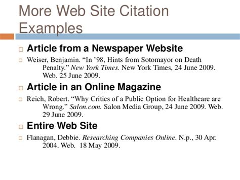 mla citation magazine exle