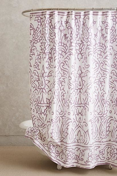 lodhi purple and white shower curtain