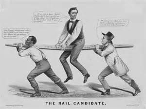 1860 quot rail candidate quot abraham lincoln political cartoon
