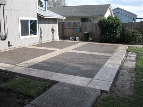 Sted Concrete Backyard Ideas by Creating Patios Driveways Pathways Pacific Brothers