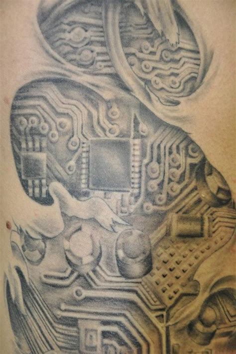 circuit board tattoo circuit board tattoos that i woods