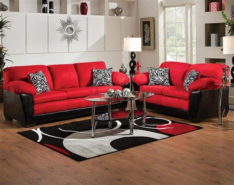 red couch and loveseat black and red sofa set designs