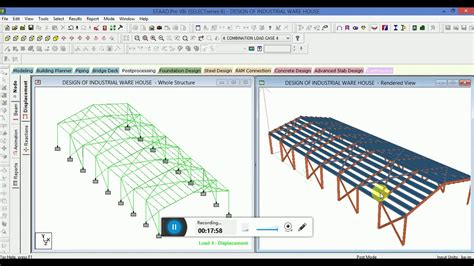 portal frame design using staad pro design modelling of industrial steel warehouse in staad