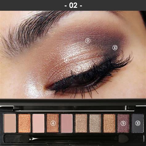 Eyeshadow Focallure 2017 makeup new fashion glitter eye shadow palette 10