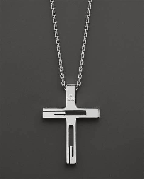 Skull Rugs Sale Gucci Sterling Silver Cross Necklace Bloomingdale S