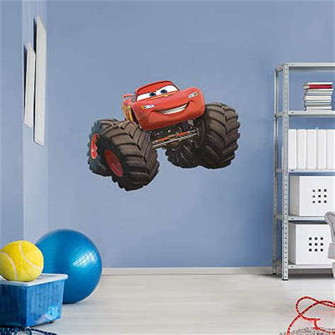 lightning mcqueen monster truck videos shop the world of cars wall decals graphics fathead disney