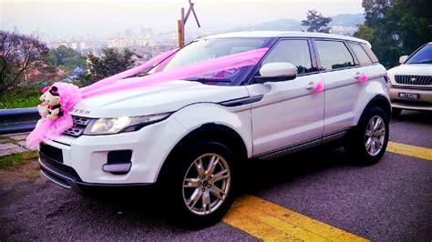 pink range rover redorca malaysia wedding and event car rental range rover