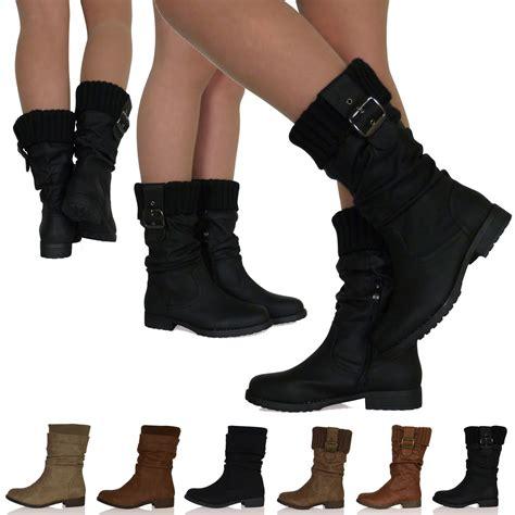 sock boots mid heel womens low heel flat sock slouch boots zip up mid calf winter warm comfy ebay