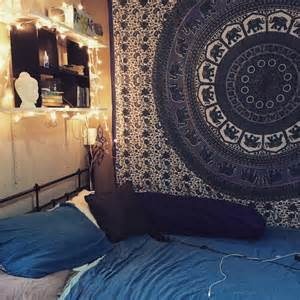 Sun And Moon Duvet Cover White Red Indian Elephant Mandala Hippie Tapestry Bed