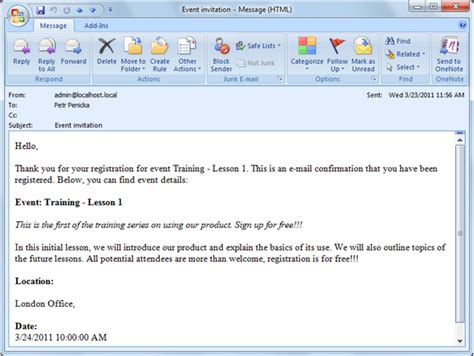 kentico email template e mail invitations