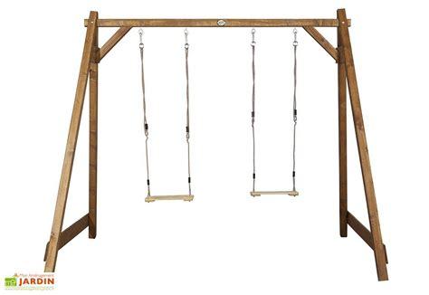 table balancoire portique balan 231 oires en bois marron axi