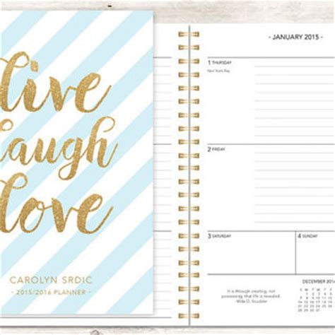weekly school planner 2015 2016 this academic calendar 2015 planner 2015 2016 calendar from posypaper on etsy