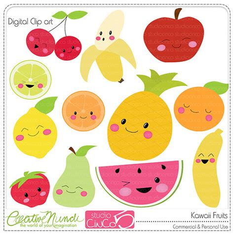 imagenes de frutas kawaii kawaii frutas digital im 225 genes predise 241 adas im 225 genes