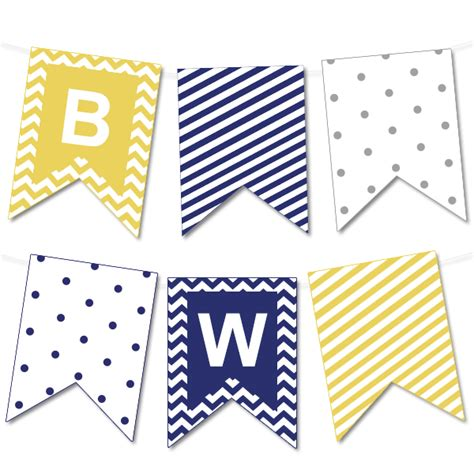 printable bunting flags chevron and striped printable bunting banner printable