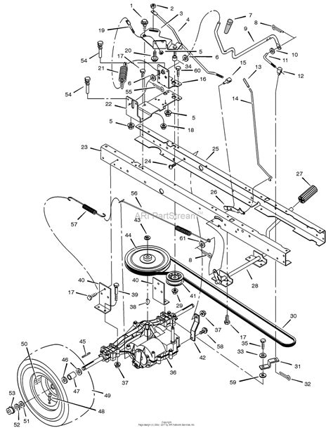 murray lawn mower parts diagram murray 405015x92a lawn tractor 2002 parts diagram for