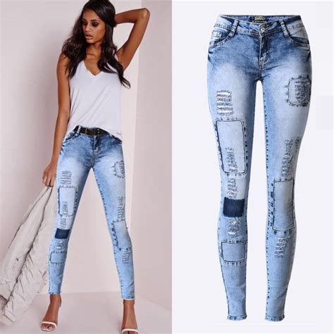 new pattern jeans 2016 aliexpress com buy 2016 new fashion ladies blue ripped