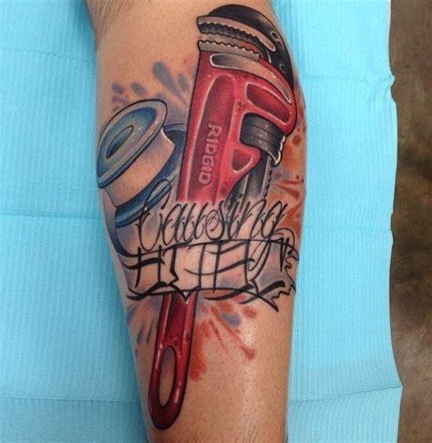 plumbing tattoos ridgid pipe wrench http www hvac hacks ridgid pipe