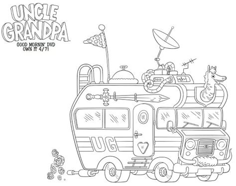 printable coloring pages uncle grandpa uncle grandpa free printable coloring sheet mama likes this