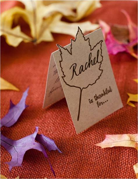 thanksgiving place card holder templates 20 lovely last minute diy thanksgiving place cards
