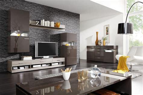 designermöbel wohnzimmer wohnzimmer schwarzbraun hochglanz sonoma eiche inkl bel