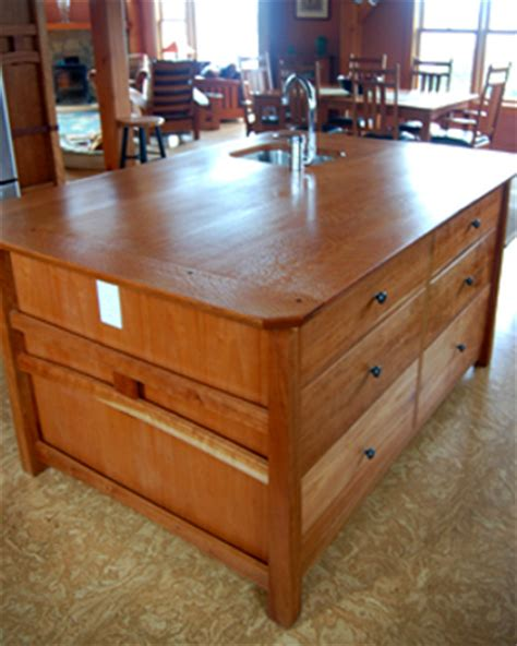 custom kitchen island with sink timber frame counters tops new energy works