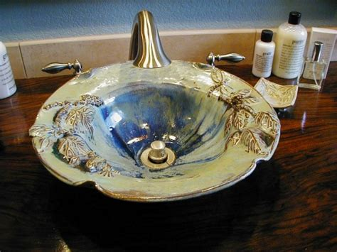 Handmade Pottery Vessel Sinks - 17 best images about sinks on ceramics