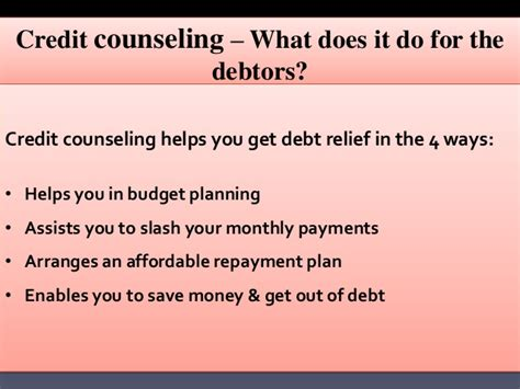 Does An Mba Help You Get A by Credit Counseling How Does It Help You Get Debt Relief