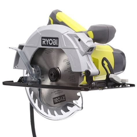 Circular Saw Guide Home Depot by Ryobi 14 7 1 4 In Circular Saw With Laser Csb143lzk The Home Depot