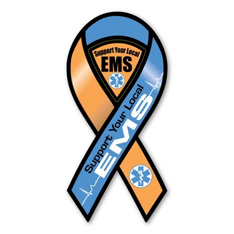 Lu Emergency Ambulance support your local ems 2 in 1 ribbon magnet magnet america