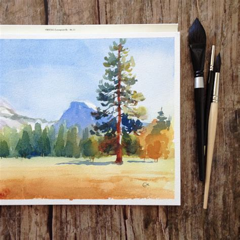 E Painting Meaning by Watercolor Landscape Painting 5 Step Tutorial