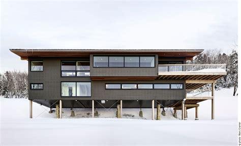 Traditional Kitchen Design Ideas modern ski chalet designed as a weekend retreat in quebec