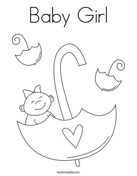 coloring page baby girl baby girl coloring page twisty noodle