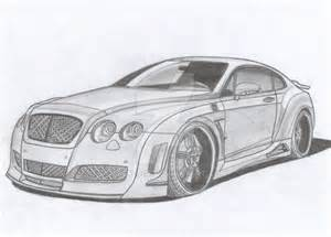 How To Draw A Bentley Bentley Continental Gt Premier 4509 Limited By Arek Ogf On
