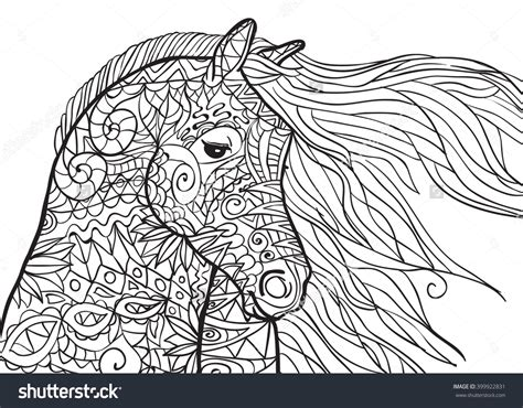 coloring pages of horses for adults coloring pages