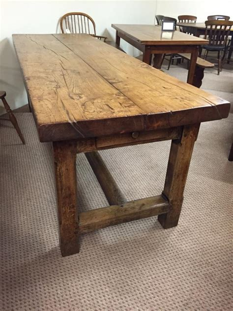 Rustic refectory elm antique farm house table, Antique rustic elm table   Tables   2m to 2.5m