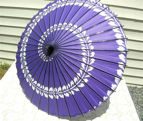 Handmade Umbrellas - purple swirl japanese paper umbrella handmade by sandradestash