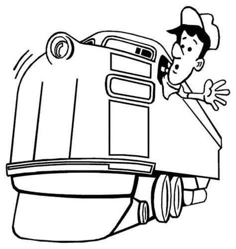 conductor hat coloring page train conductor hat free colouring pages