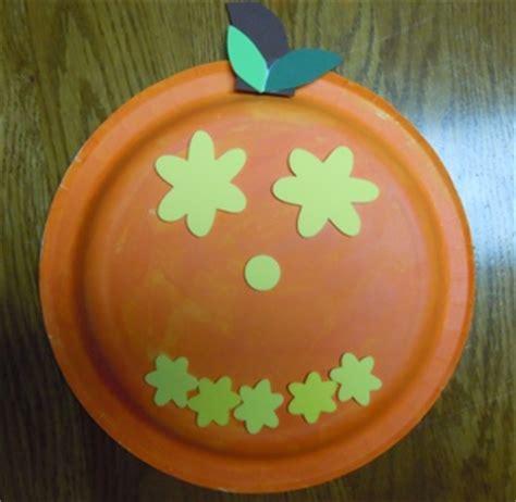 Pumpkin Paper Plate Craft - paper plate crafts paper plate pumpkins