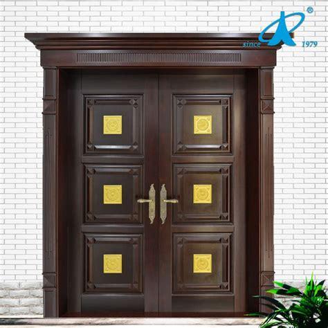 main door teak wood double front door design photo