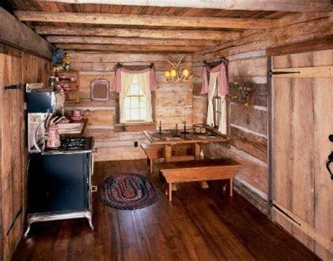 rustic home interiors small cabin kitchen cabins pinterest home ideas