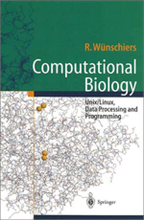 computational biology a hypertextbook books computational biology book list bioinformatics org wiki