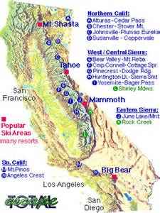ski california map ski resort maps california snow ski map snow resort towns
