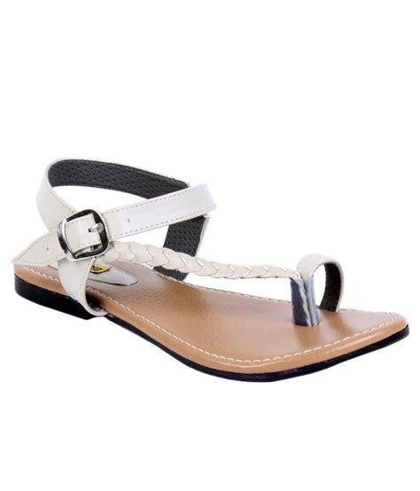 white sandals flat indirang white flat sandals price in india buy indirang