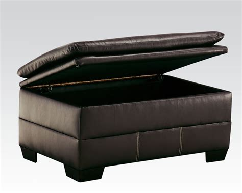 Chocolate Storage Ottoman Storage Ottoman In Chocolate Hayley By Acme Furniture Ac50358
