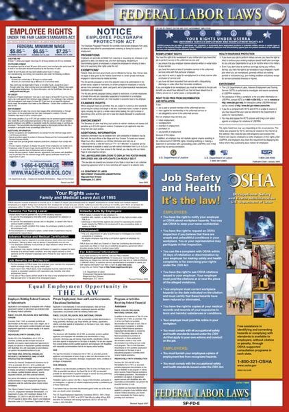 printable eeoc poster federal labor law posters federal