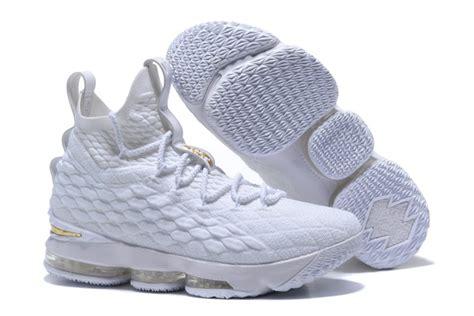 lebron newest basketball shoes new nike lebron 15 all white basketball shoes cheap sale