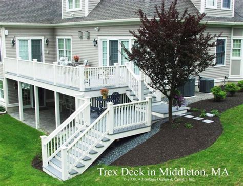 two story deck bosman two story deck for walk out basements