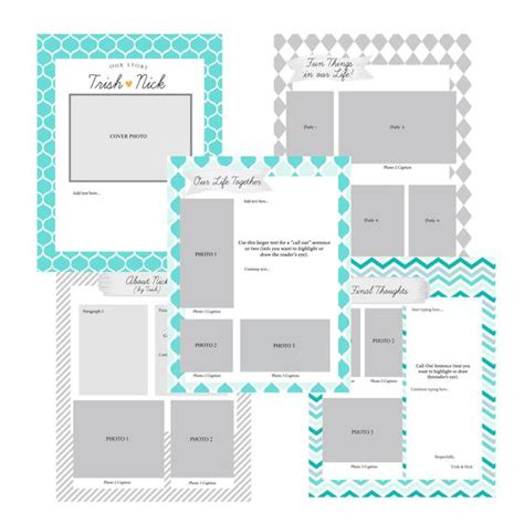 Adoption Portfolio Templates Adoption Profile Or Portfolio Photoshop Template Digital